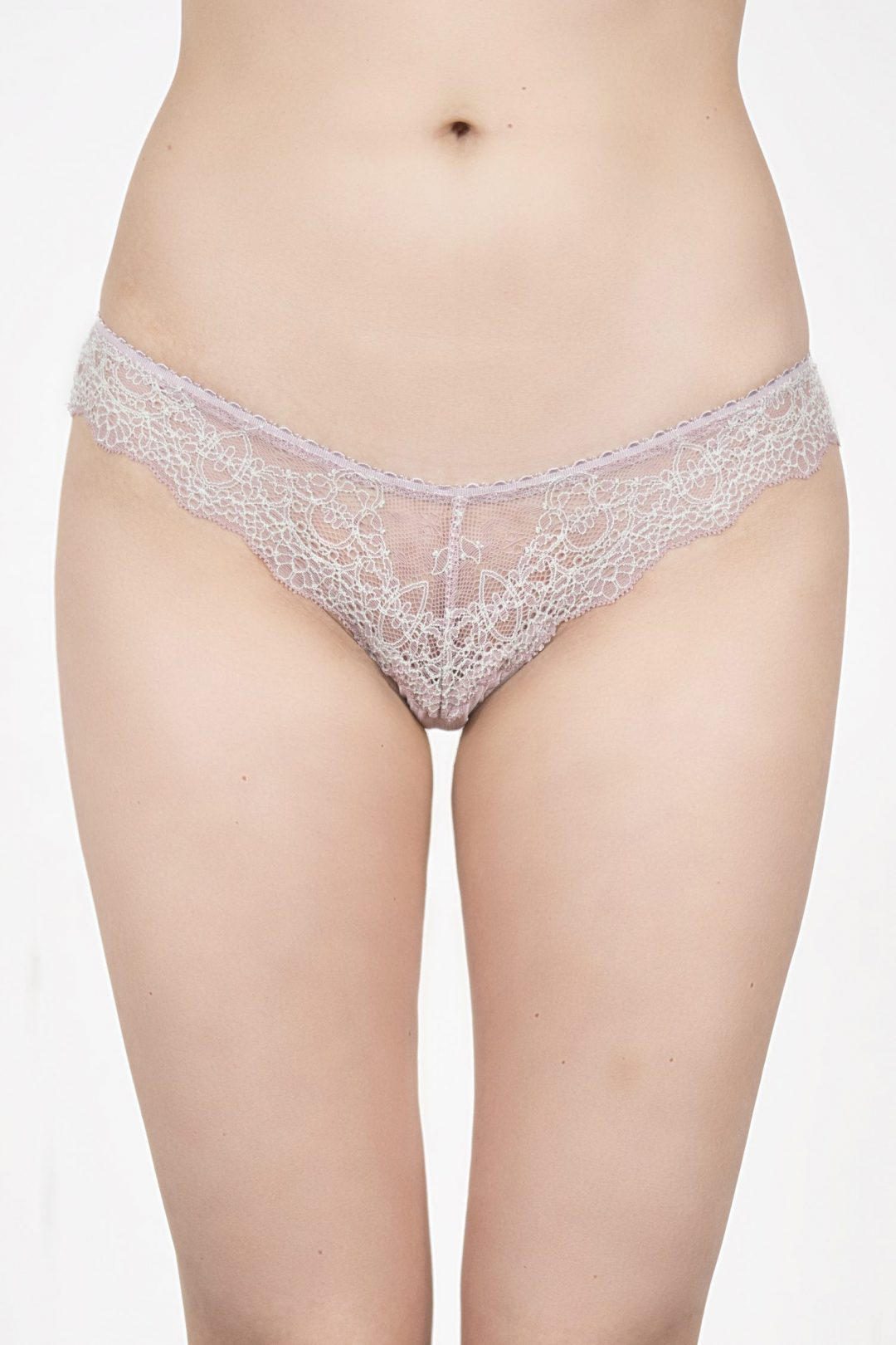 Image of a beautiful cute & sexy lilac lace women's thongs | IDentity Lingerie UK