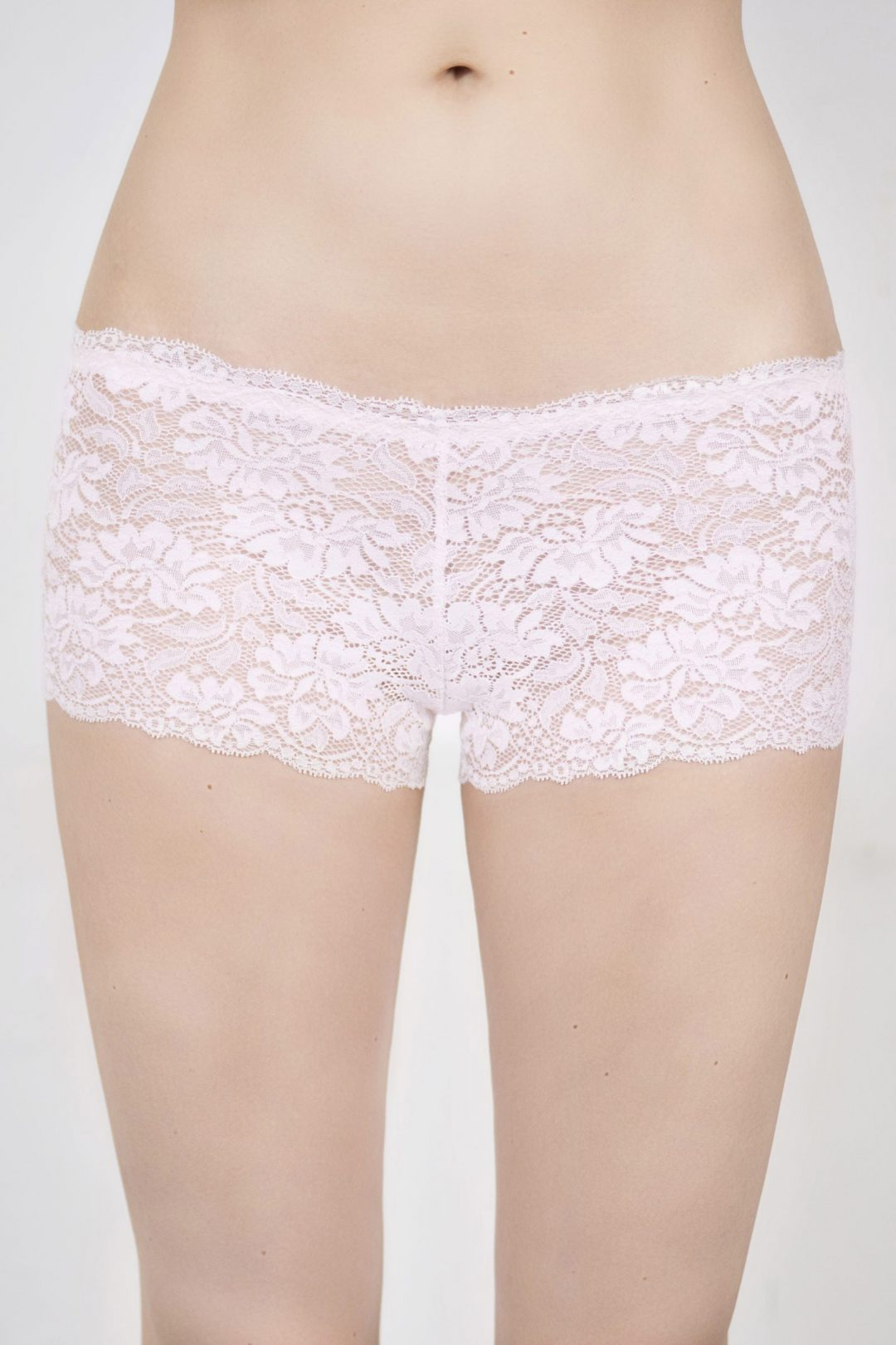 Pic of a beautiful cute & sexy pink lace ladies boyshorts | IDentity Lingerie UK