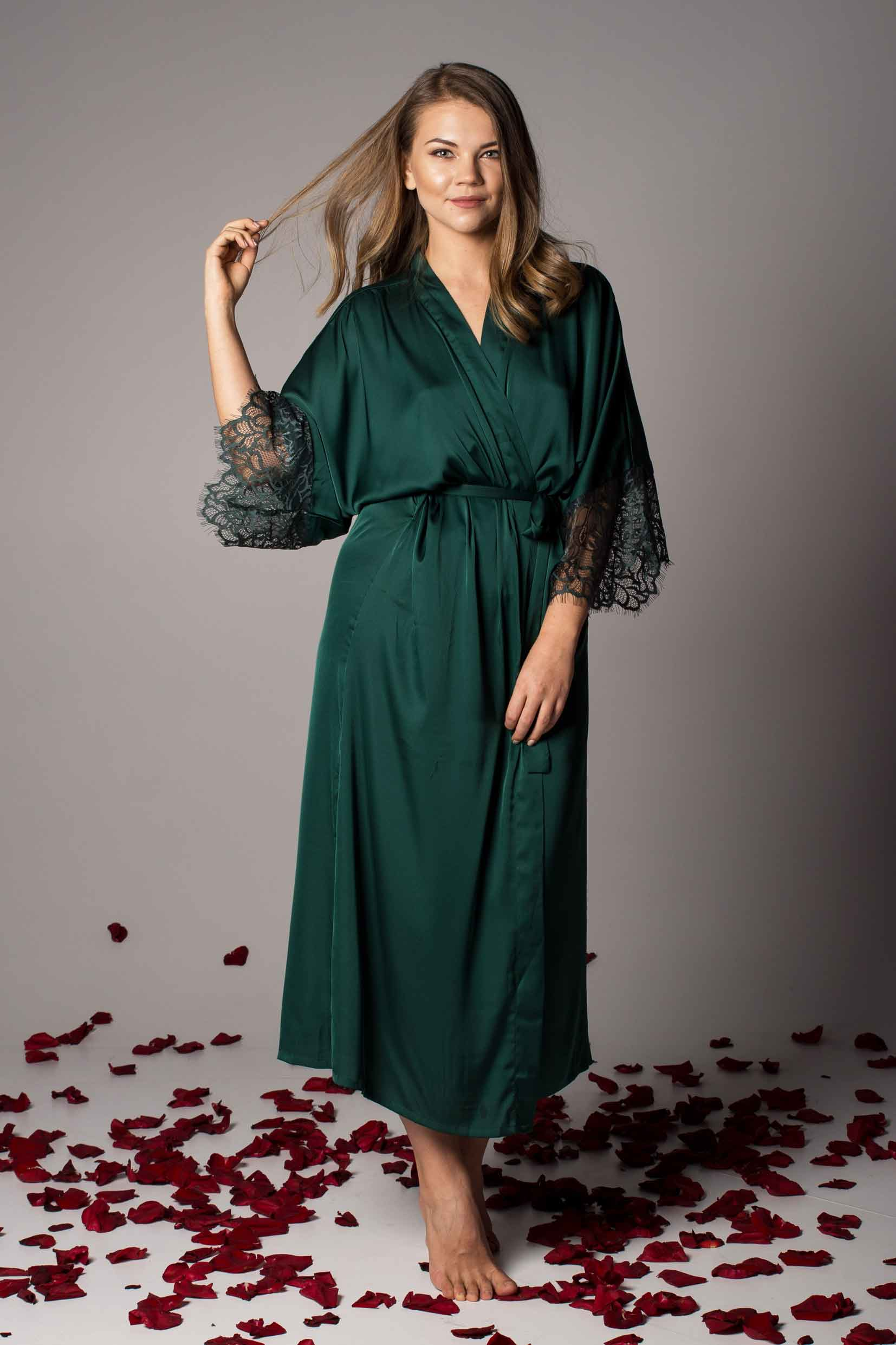 Buy Dressing Gown - Ladies Satin, Silk & Lace Robes | Lingerie UK
