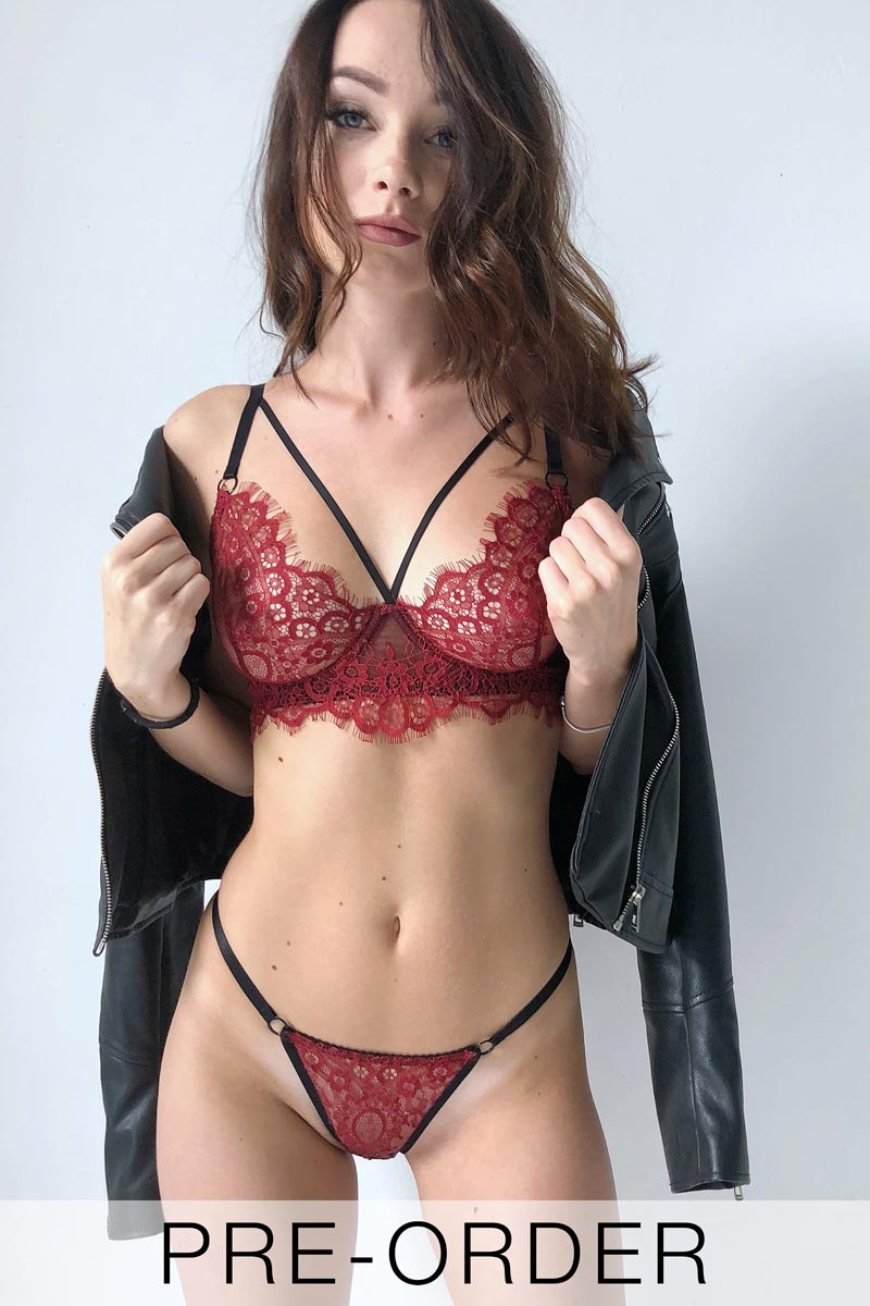 Image of a Red Bralette